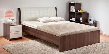 Кровать Гнутая спинка мягкая 1400, Боровичи мебель