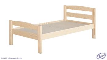 Кровать МАССИВ детская 1400 мм (без матраца), ЭКО, Элегия, Боровичи