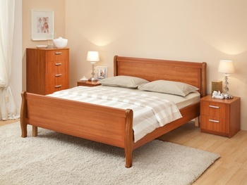 Кровать Мелисса  ЛЮКС 1600 с двумя спинками, (без матраца), Боровичи мебель