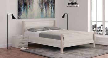 Кровать Мелисса  ЛЮКС 1400 с двумя спинками, (без матраца), Боровичи мебель