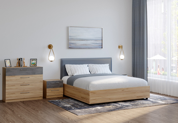 Кровать с подъемным механизмом ЛОФТ, 1800 (без матраца), Боровичи мебель