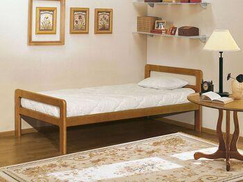 Кровать массив 1400 мм, (без матраца), Элегия, Боровичи