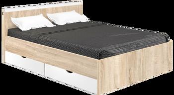 Кровать Вайт 1400 с ящиками (без матраца), Боровичи мебель