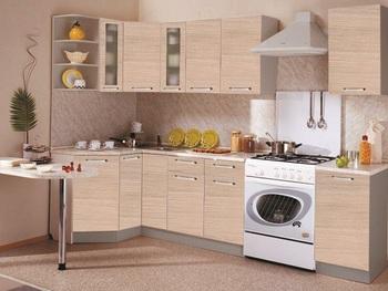 Кухня Трапеза Классика угловая 1200х2100 h 900, 1 категория, Боровичи мебель