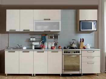 Кухня Трапеза Престиж 2200 с шкафом под микроволновую печь, 1 категория, Боровичи мебель