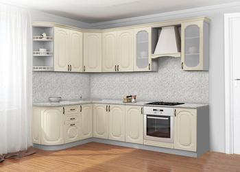 Кухонный гарнитур Классика Прованс угловой 1735х2200, 2 категория, Боровичи мебель