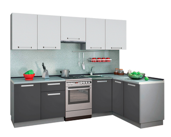 Кухня Симпл угловая 2600х1500 мм, модульная, Боровичи мебель