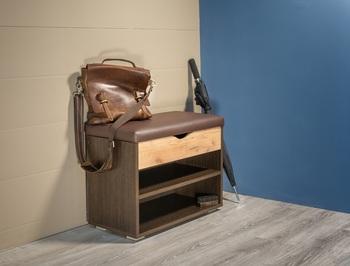 Лайт Тумба для обуви 08.57, 615х315, В 470 мм, Моби мебель