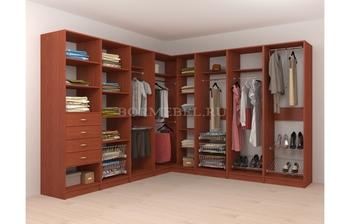 Модульная гардеробная угловая Лайт Экспресс № 6, Лопасня-Мебель