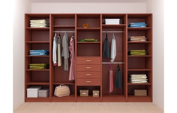 Модульная гардеробная Лайт Экспресс № 1, Лопасня-Мебель