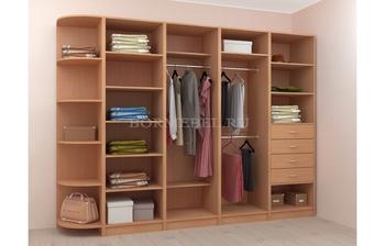 Модульная гардеробная Лайт Экспресс № 2, Лопасня-Мебель