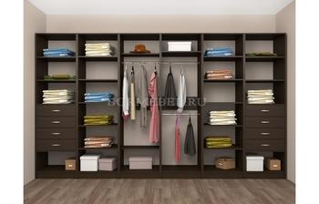 Модульная гардеробная Лайт Экспресс № 3, Лопасня-Мебель