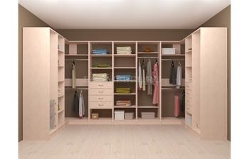 Модульная гардеробная угловая Лайт Экспресс № 4, Лопасня-Мебель