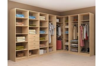Модульная гардеробная угловая Лайт Экспресс № 5, Лопасня-Мебель