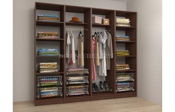Модульная гардеробная Лайт Экспресс № 7, Лопасня-Мебель