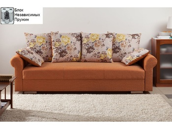 Диван Лира Люкс с боковинами 1700 с блоком независимых пружин, Боровичи мебель