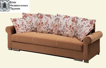 Диван Лира Люкс с боковинами 1600 с блоком независимых пружин, Боровичи мебель