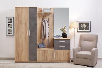 Прихожая Лофт 1, 2050х2010х385, Боровичи мебель