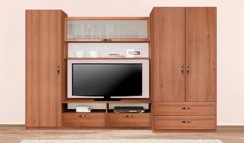 Гостиная Лотос, вариант №1, 2600х1995х540, Боровичи мебель