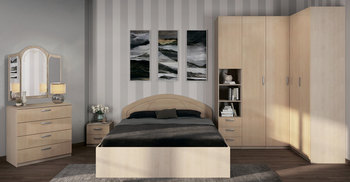 Спальня Лотос, вариант № 4, Боровичи мебель