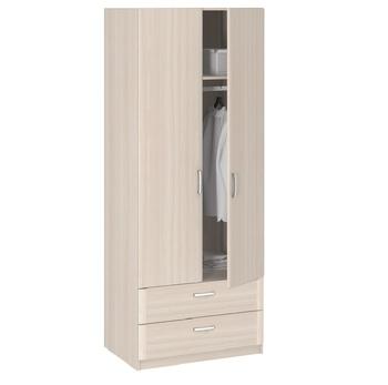 8.023 Лотос, Шкаф 2-х дверный с ящиками 840х2380х540, Боровичи мебель