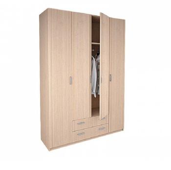 8.04 Лотос, Шкаф 4-х дверный без зеркала, 1675х2380х540, Боровичи мебель