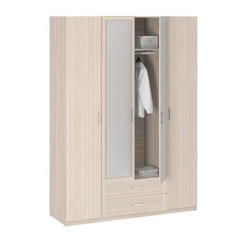 8.04 Лотос, Шкаф 4-х дверный с зеркалом, 1675х2380х540, Боровичи мебель