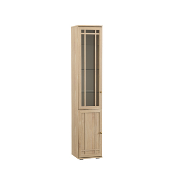 Марко, Шкаф-витрина 03.261, 400х392, В 2105 мм, Моби мебель