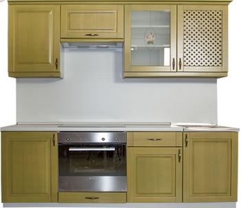 Кухня Трапеза Массив Люкс 1500, Боровичи мебель