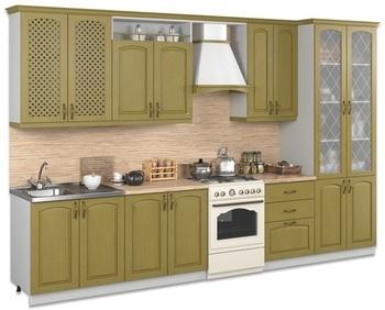 Кухня Трапеза Массив Люкс 3000 с пеналом, Боровичи мебель