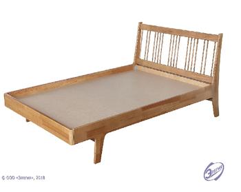 Кровать Массив-4 900 мм, (без матраца), Элегия, Боровичи