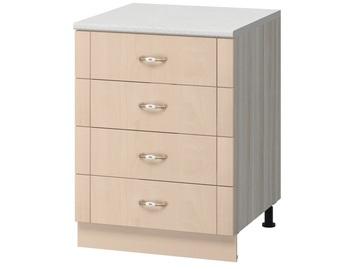 МН-64 Стол с 4-мя ящиками 600х600х840, Боровичи мебель