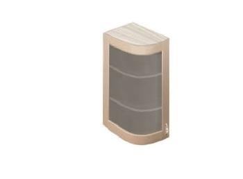 МВ-72В левый шкаф-витрина гнутый модерн 230х320х700, Боровичи мебель