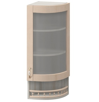 МВ-30В правый Торцевой шкаф-витрина 325х320х1155, Боровичи мебель