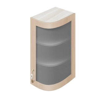 МВ-72В правый шкаф-витрина гнутый модерн 230х320х700, Боровичи мебель