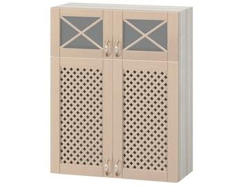 МВ-77В Шкаф витрина с решеткой 800х320х1000, Боровичи мебель