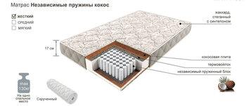 Матрац независимые пружины кокос 900х2000, Боровичи мебель
