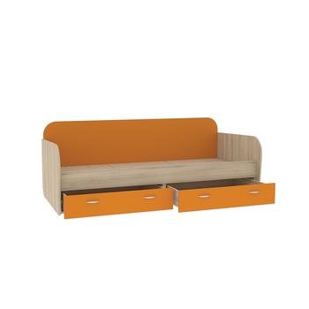 Ника, 424 Кровать, 2038 х 898, В 727 мм, Моби мебель