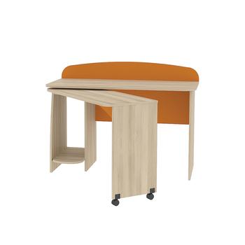 Ника, 430 Стол, 1230 х 586 (1396), В 902 мм, Моби мебель