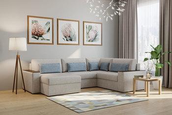 Норд, модульный угловой с боковинами с ящиком диван БНП, Боровичи мебель