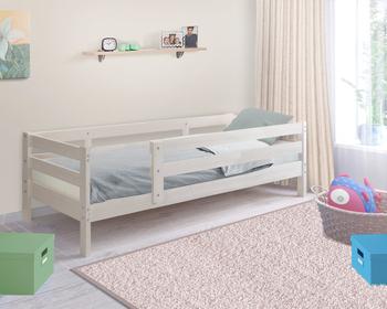 Кровать детская массив Норка с бортиком, Боровичи мебель