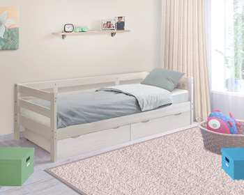 Кровать детская массив Норка с ящиками, Боровичи мебель