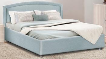Кровать с подъемным механизмом Овальная спинка 1200 с блоком независимых пружин, Боровичи мебель