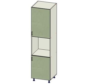 Пенал № 17, 2 двери (716,916), 600х560х2340, 1 кат. Лопасня мебель