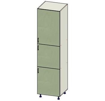 Пенал № 5,  3 двери (716,596,916) 600х560х2340, 1 кат. Лопасня мебель