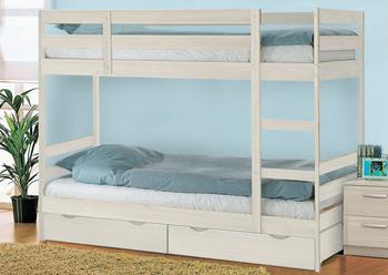 Кровать Пирус 2-х ярусная массив с ящиками, Боровичи мебель