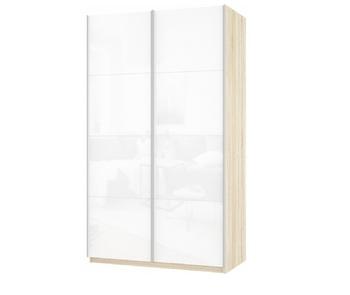 Шкаф-Купе Прайм 2-х дверный Белое стекло/Белое стекло, 1600х570х2300 мм, Е1