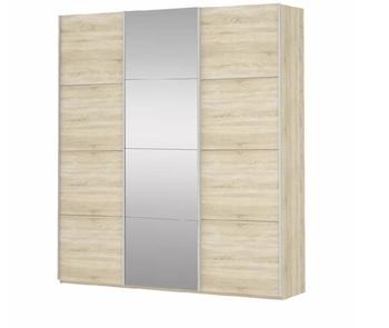 Шкаф-Купе Прайм 3-х дверный ЛДСП/Зеркало/ЛДСП, 2100х570х2300 мм, Е1