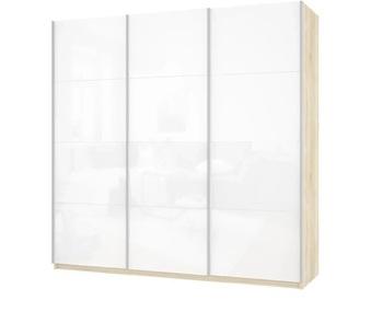Шкаф-Купе Прайм 3-х дверный Белое стекло 3 двери, 2100х570х2300 мм, Е1