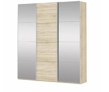 Шкаф-Купе Прайм 3-х дверный Зеркало/ЛДСП/Зеркало, 2100х570х2300 мм, Е1